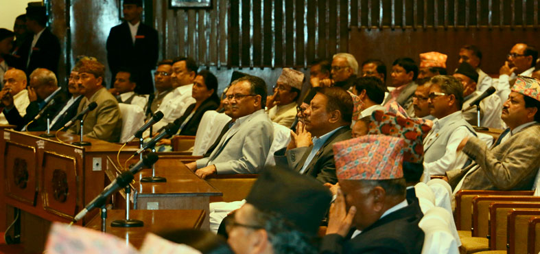 Lawmakers at the first meeting of Parliament's budget session  on Tuesday, June 30, 2015. Photo: RSS