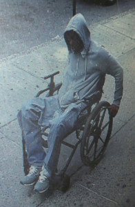 In this Monday, June 29, 2015 photo provided by the New York Police Department, a man gets away after he robbed the Santander bank in the Queens borough of New York. After receiving over id=