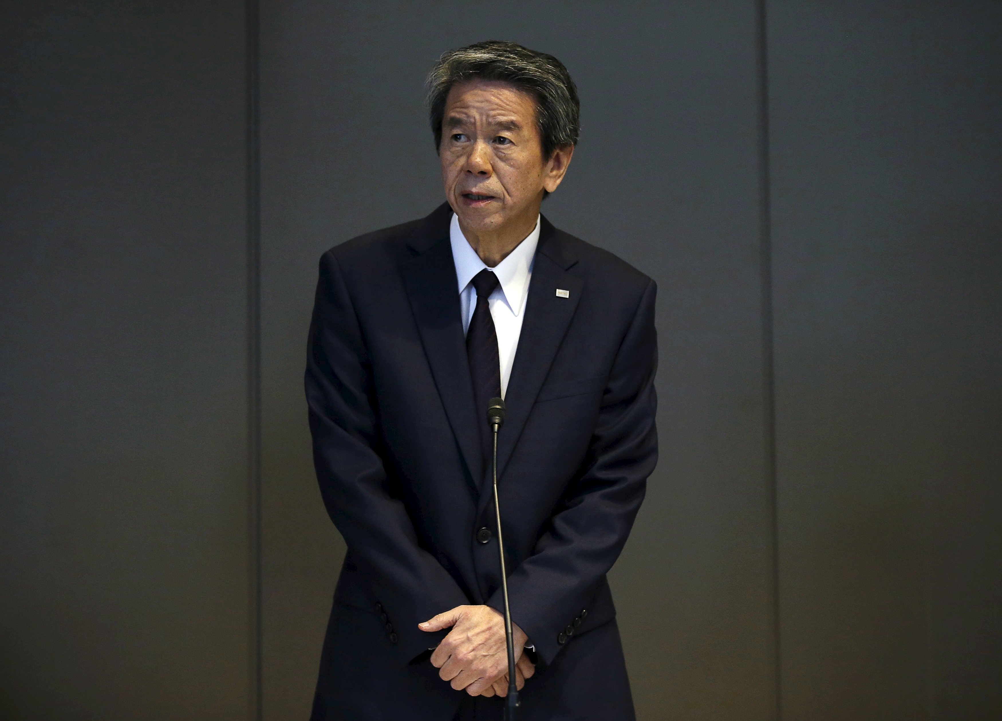 Toshiba Corp President and Chief Executive Officer Hisao Tanaka attends a news conference at the company headquarters in Tokyo July 21, 2015. Japan's Toshiba Corp said Tanaka was stepping down on Tuesday after an independent investigation found he had been aware the company had been inflating its profits over a number of years. Photo: Reuters