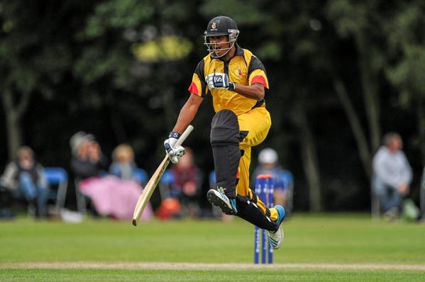 Asad Vala of Papua New Guinea batting against Nepal. Photo: ICC