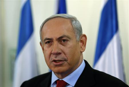 Israel's Prime Minister Benjamin Netanyahu delivers a statement at his office in Jerusalem January 23, 2013. Photo: Reuters