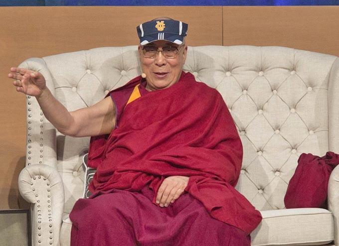 The Dalai Lama at the University of California-Irvine on July 7, 2015, in Irvine, California. Photo: AFP