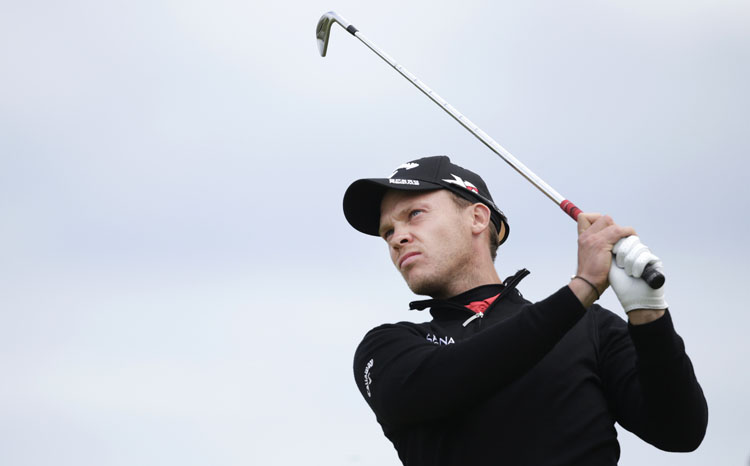 England's Danny Willett drives a ball from the 11th tee during the second round of the British Open Championship at the Old Course on Friday.