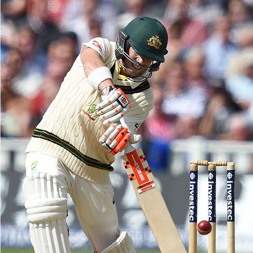 Australia's David Warner bats on the second day of their third Ashes Test match against England on Thursday. Photo: AFP