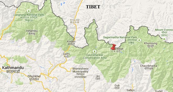 Epicentre was close to Na Gaun of Dolakha. Photo: Google Maps/NSC