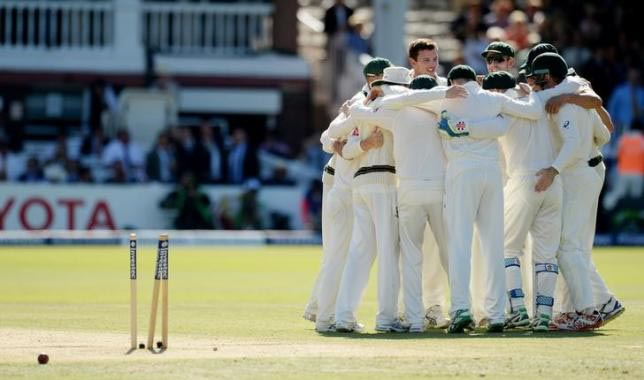 England v Australia - Investec Ashes Test Series Second Test - Lord's - 19/7/15Australia celebrate after winning the second test. Photo: Reuters