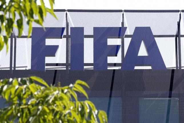 The logo of soccer's international governing body FIFA is seen on its headquarters in Zurich, Switzerland, May 27, 2015. Photo: Reuters