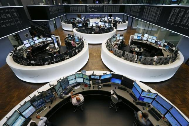 A general view of the trading floor of Frankfurt stock exchange in Frankfurt, July 6, 2015. REUTERS/Ralph Orlowski