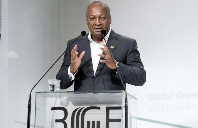 President of Ghana John Dramani Mahama speaks at the Global Green Growth Forum in Copenhagen, October 21, 2014. REUTERS/Keld Navntoft/Scanpix Denmark