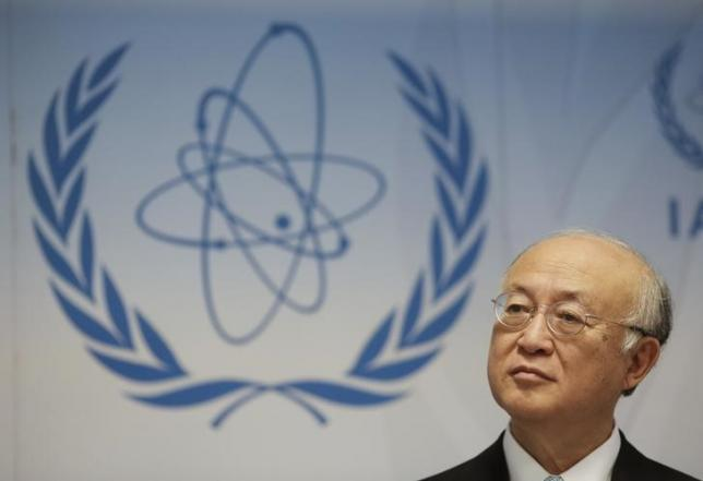 International Atomic Energy Agency (IAEA) Director General Yukiya Amano addresses a news conference after a board of governors meeting at the IAEA headquarters in Vienna, Austria, June 8, 2015. REUTERS/Leonhard Foeger/Files