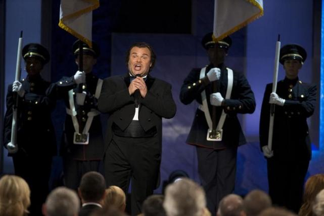 Actor Jack Black sings at the American Film Institute's 43rd Life Achievement Award at the Dolby theatre in Hollywood, California June 4, 2015. Actor Steve Martin was honored with the award. REUTERS/Mario Anzuoni