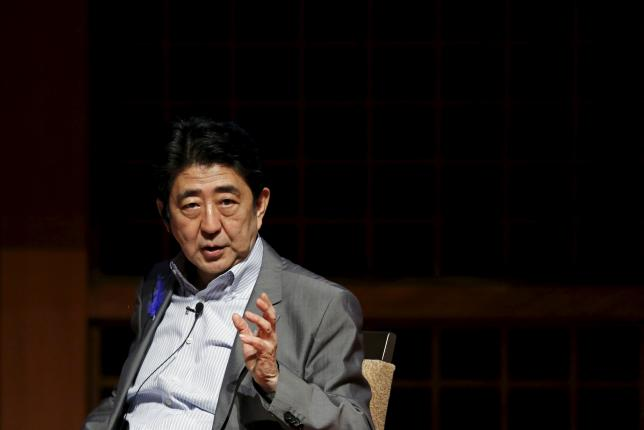 Japan's Prime Minister Shinzo Abe speaks at Japan Summit 2015 hosted by the Economist magazine in Tokyo, July 9, 2015. REUTERS/Toru Hanai