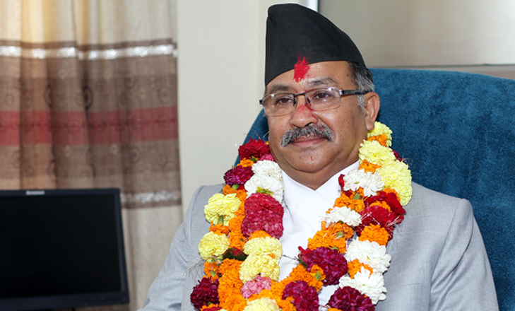 Newly-appointed Chief Justice Kalyan Shrestha poses for a photo during his first day at Supreme Court on Wednesday, July 8, in Kathmandu. Photo: Kumar Shrestha/RSS