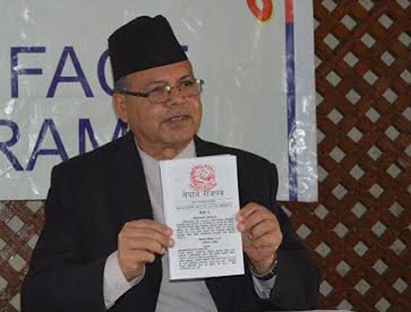CPN-UML leader Jhalanath Khanal
