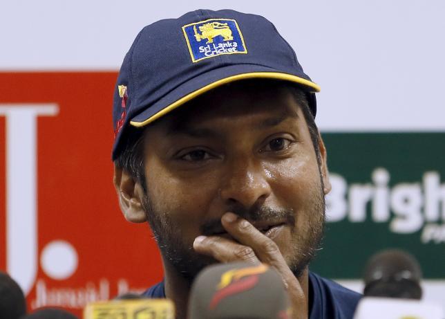 Sri Lanka's Kumar Sangakkara speaks during a news conference in Colombo June 27, 2015. REUTERS/Dinuka Liyanawatte/Files
