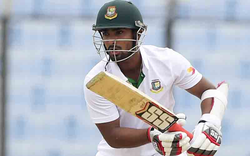 Bangladesh's Litton Das plays a shot against South Africa during the third day of their first Test match at the Zahur Ahmed Chowdhury Stadium in Chittagong on Thursday. Photo: AFP