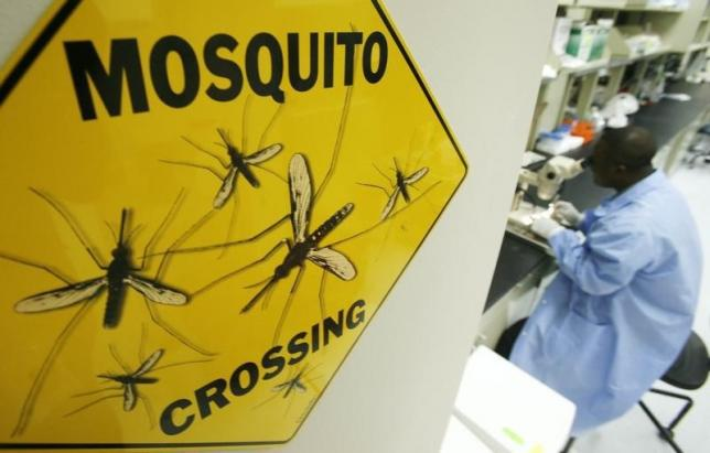 Worker Solomon Conteh dissects a mosquito at Sanaria Inc. facility in Rockville, Maryland, October 26, 2007. REUTERS/Jim Young/Files