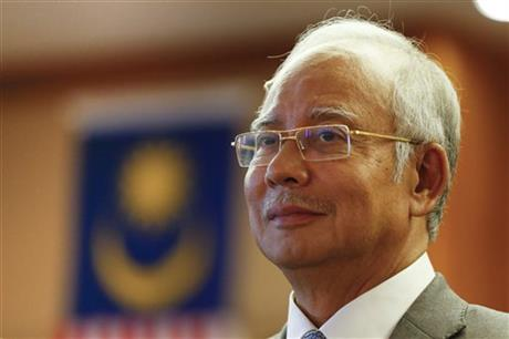 Malaysian Prime Minister Najib Razak pauses during a government event in Putrajaya, Malaysia, Wednesday, July 8, 2015. Photo: AP