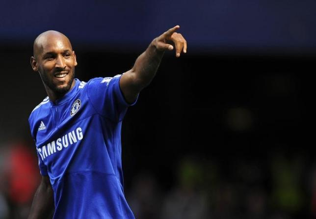 Nicolas Anelka during a soccer match at Stamford Bridge in London August 29, 2009. REUTERS/Dylan Martinez/Files
