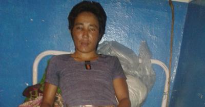 Niraj Lawati beaten by APF personnel. Photo: THT