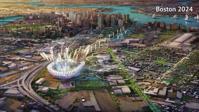 A proposed Olympic Stadium in Boston, Massachusetts is seen in this handout image made available January 21, 2015 by the Boston2024 group, which organized Boston's bid to host the 2024 Summer Olympics. REUTERS/Boston2024/Handout via Reuters/FilesnnATTENTION EDITORS - THIS IMAGE HAS BEEN SUPPLIED BY A THIRD PARTY. IT IS DISTRIBUTED, EXACTLY AS RECEIVED BY REUTERS, AS A SERVICE TO CLIENTS. FOR EDITORIAL USE ONLY. NOT FOR SALE FOR MARKETING OR ADVERTISING CAMPAIGNS