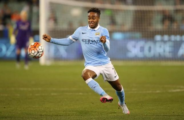 Football - AS Roma v Manchester City - International Champions Cup Pre Season Friendly Tournament - MCG, Melbourne, Australia - 21/7/15. Manchester City's Raheem Sterling in action. Action Images via REUTERS/Jason O'Brien/Livepic