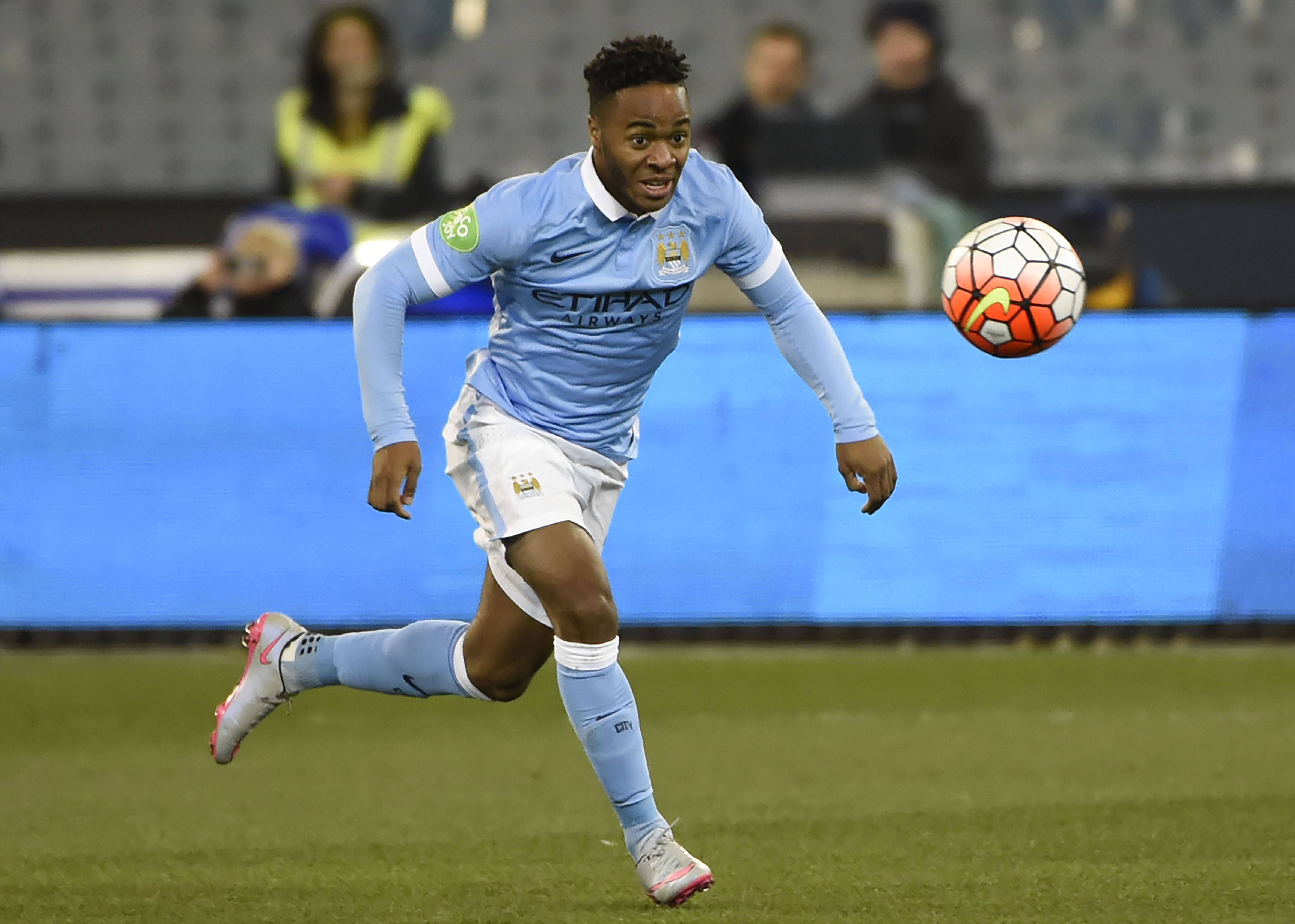 Manchester Cityu2019s Raheem Sterling in action against Roma during the International Champions Cup in Melbourne on Tuesday. Photo: AFP