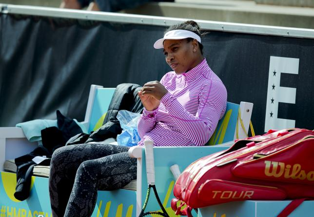 Serena Williams of the U.S. looks on after training in Bastad, Sweden, July 14, 2015.  REUTERS/Adam Ihse/TT News Agency
