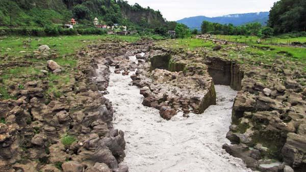 A majestic view of the Seti River from the Rock Garden at Pulchowk of Shukla Gandaki Municipality of Tanahun on Sunday, July 12, 2015. Photo: Madan Wagle