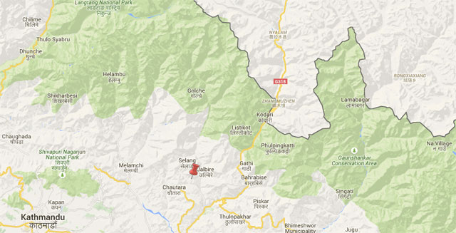 The epicentre was close to Batase, southeast of district headquarters Chautara.