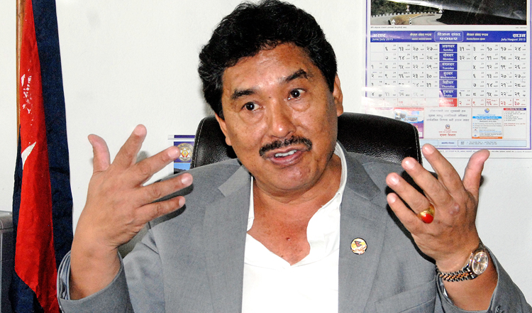 State Minister for Labour and Employment Tek Bahadur Gurung