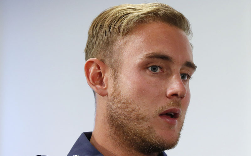 England's Stuart Broad during the press conference on July 2, 2015. Photo: Reuters