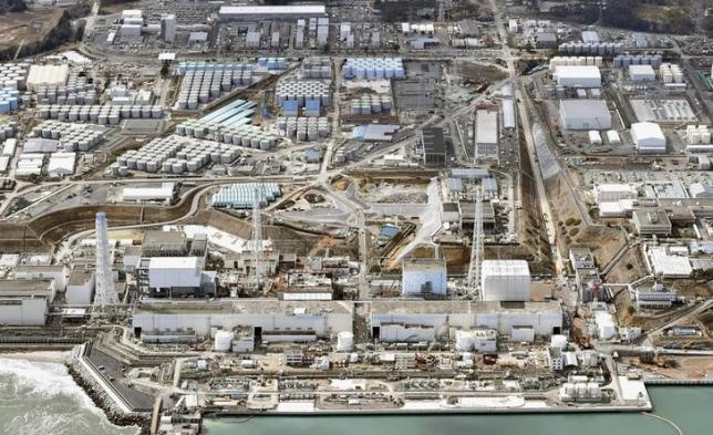 General aerial view of Tokyo Electric Power Co. (TEPCO)'s tsunami-crippled Fukushima Daiichi nuclear power plant in Fukushima prefecture, taken by Kyodo March 11, 2015.  PHoto: Kyodo via Reuters/File