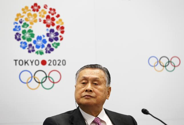Yoshiro Mori, Japan's President of the Tokyo 2020 Organizing Committee, attends a news conference in Tokyo, July 1, 2015. REUTERS/Thomas Peter