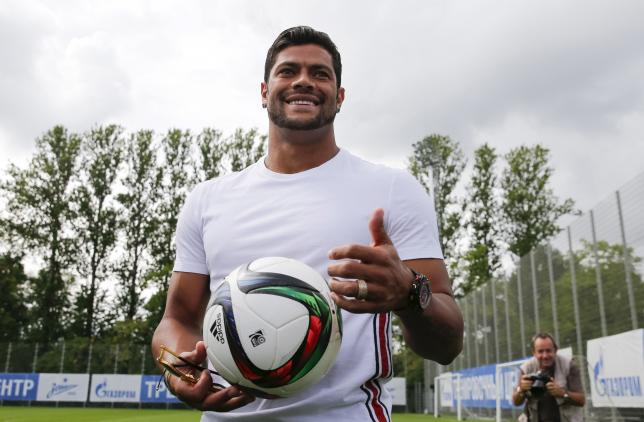 Zenit St. Petersburg's Hulk poses for pictures at Zenit's training center in St. Petersburg, Russia, July 20, 2015. REUTERS/Maxim Shemetov