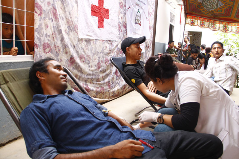 A blood donation