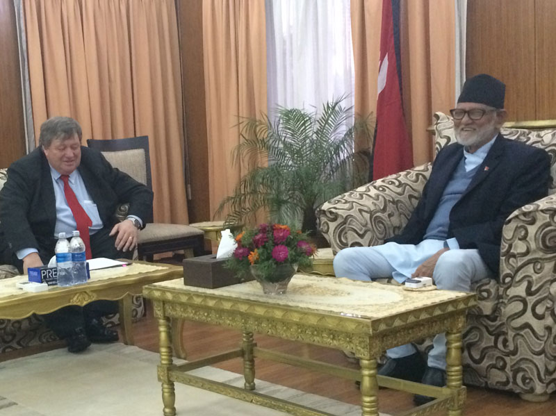 US Ambassador to Nepal, Peter W Bodde, calls on PM Sushil Koirala at the PM's residence in Baluwatar on Monday, July 6, 2015. Photo: PM's Secretariat
