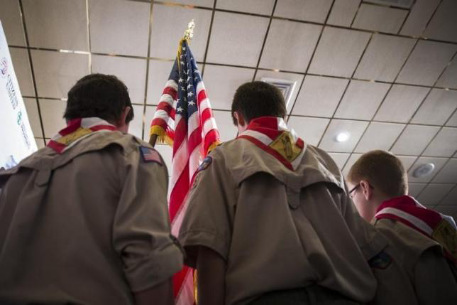 Boy Scouts lift blanket ban on gay adult leaders, employees. Photo:Reuters