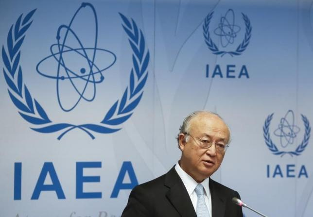 International Atomic Energy Agency (IAEA) Director General Yukiya Amano addresses a news conference after a board of governors meeting at the IAEA headquarters in Vienna, Austria, June 8, 2015. REUTERS/Leonhard Foeger