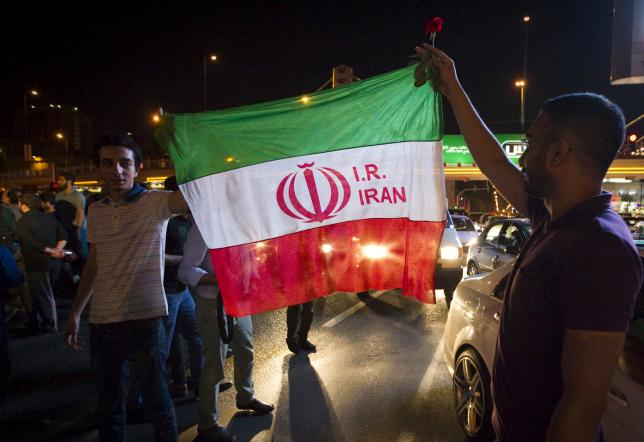 Iranians celebrate on the streets following a nuclear deal with major powers, in Tehran July 14, 2015. REUTERS/TIMA