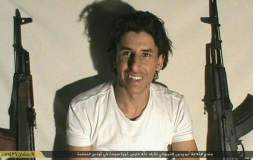 Undated image made available Twitter by the Tunisian branch of the Islamic State (IS) group claims to show Seifeddine Rezgui, the gunman who carried out the deadly attack in the Tunisian resort town of Sousse
