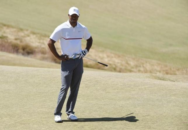 Tiger Woods reacts on the 2nd green in the second round of the 2015 U.S. Open golf tournament at Chambers Bay. Photo: Kyle Terada-USA TODAY Sports/Reuters