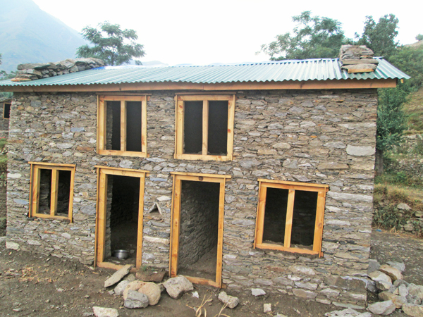 A newly constructed house for freed tillers, in Kolti, VDC of Bajura.   Photo: THT