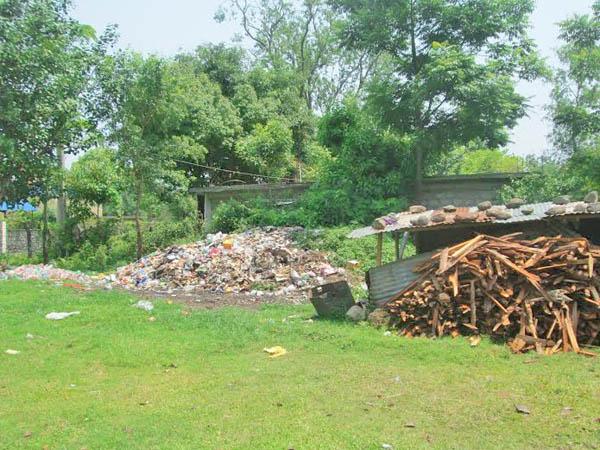Waste materials on the premises of Kaski Prison in Pokhara of Kaski, on Friday, July 03, 2015.nPhoto: Rishi Ram Baral
