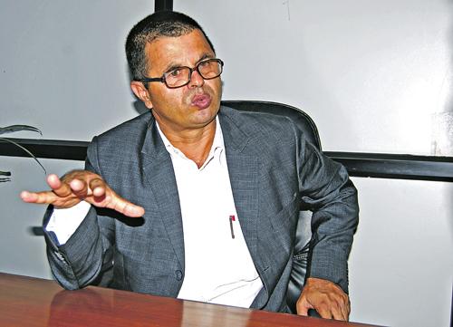 Arjun Prasad Gautam, Geneal Secretary of Nepal Trans Himalaya Border Commerce Association  PHOTO: BALKRISHNA THAPA CHHETRI/THT