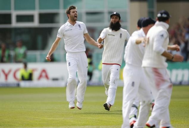 England's Mark Wood celebrates the wicket of Australia's Nathan Lyon as England win the Ashes nAction Images via Reuters