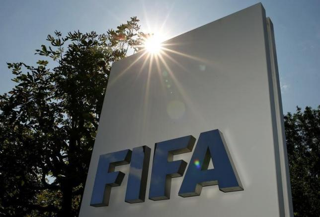 The logo of FIFA is seen in front of its headquarters in Zurich, Switzerland July 20, 2015. Photo: Reuters