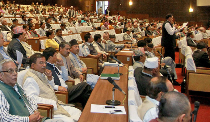 Lawmakers taking part in the House meeting on August 4, 2015. Photo: RSS