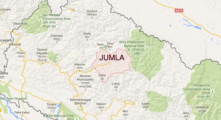 Jumla district. Map: Google