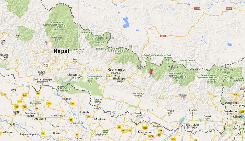 Epicentre was close to Jugu of Dolakha